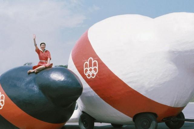 La mascotte des Jeux olympiques de Montréal de... (Archives)