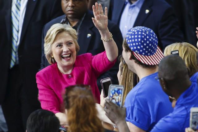 Hillary Clinton a fait campagne à Philadelphia, au... (AFP, Eduardo Munoz Alvarez)