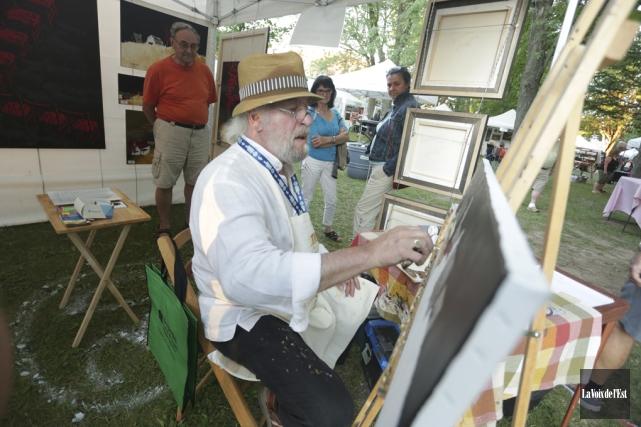 Jusqu'à dimanche, le centre-ville de Granby fourmillera d'artistes... (Catherine Trudeau, La Voix de l'Est)