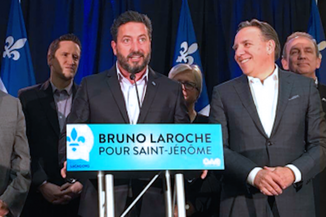 La candidature de Bruno Laroche a été officialisée... (Photo CAQ)