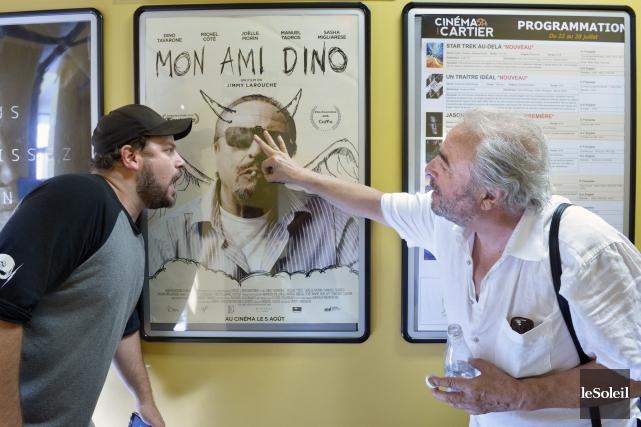 Le cinéaste Jimmy Larouche et le comédien Dino... (Photo Le Soleil, Jean-Marie Villeneuve)