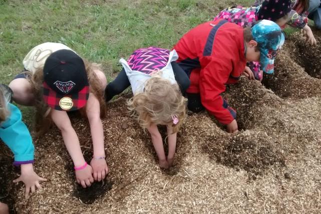 Les jeunes de l'école primaire participent à des... (Photo courtoisie)