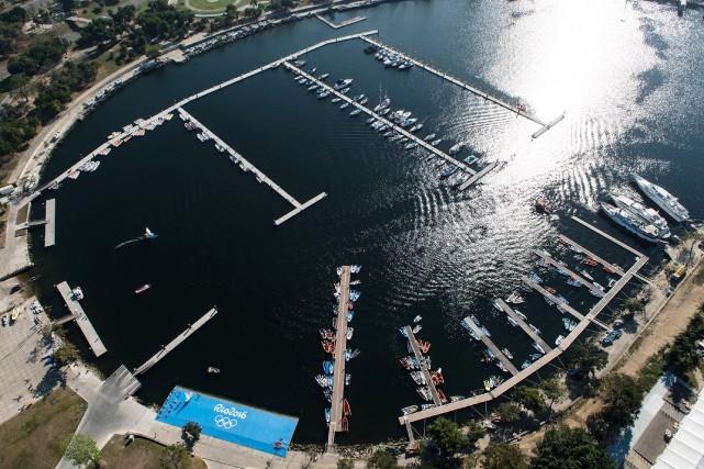 La rampe d'accès principale de la Marina da Gloria, le site des compétitions de... (AFP)
