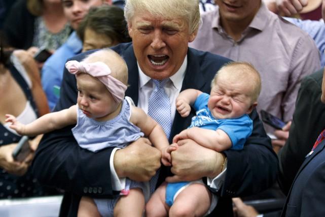 Donald Trump a fait la connaissance de deux... (AP, Evan Vucci)