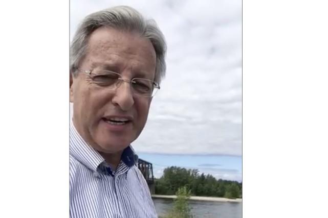 Le maire de Saguenay, Jean Tremblay, a affirmé... (Image tirée de Facebook)