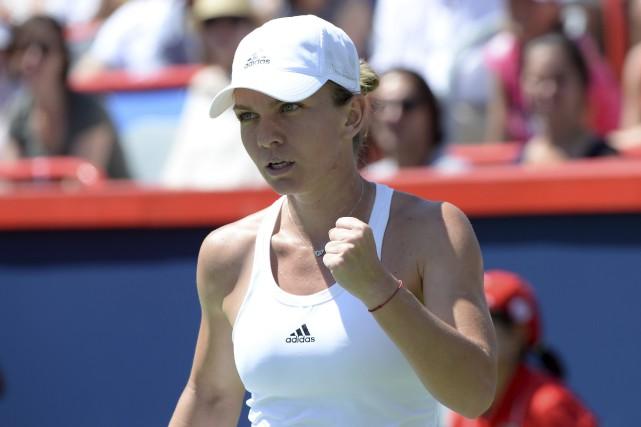 La Roumaine Simona Halep a défait l'Américaine Simona... (La Presse Canadienne, Paul Chiasson)