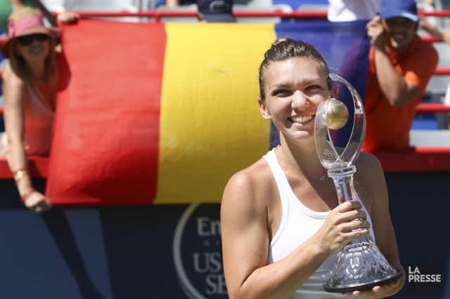 Simona Halep... (PHOTO ROBERT SKINNER, LA PRESSE)