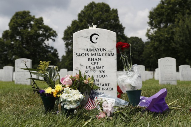 La tombe du capitaine Humayun Khan est située... (PHOTO AP)