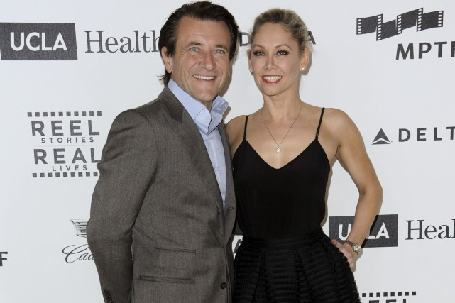 Robert Herjavec et Kym Johnson en avril dernier... (AP, Richard Shotwell)