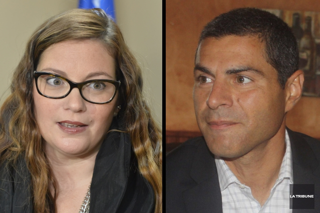 Karine Vallières et Alain Rayes... (Archives, La Tribune)