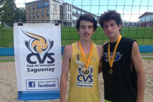 Charles-Antoine Gilbert et Raphaël Belley ont remporté le... (Photo courtoisie)
