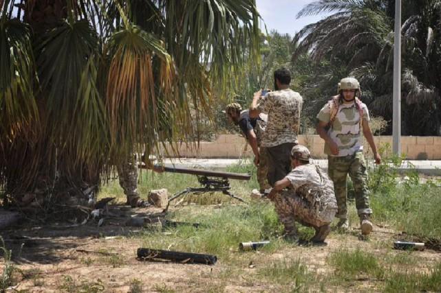 Lundi, «les forces pro-GNA ont pris le contrôle... (Photo Agence France-Presse)