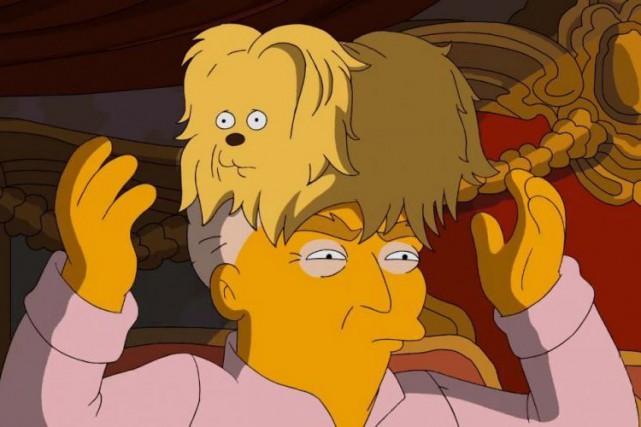 La vidéo des Simpsons se moque allègrement de... (image tirée d'une vidéo)