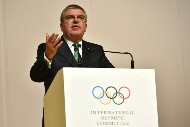 Le président du Comité international olympique, Thomas Bach.... (Photo Fabrice Coffrini, REUTERS)