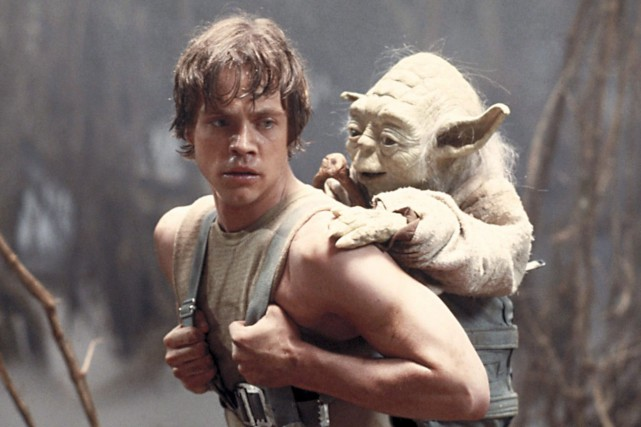 Les Jedi Luke Skywalker et Yoda dans Star... (Photo archives PC)
