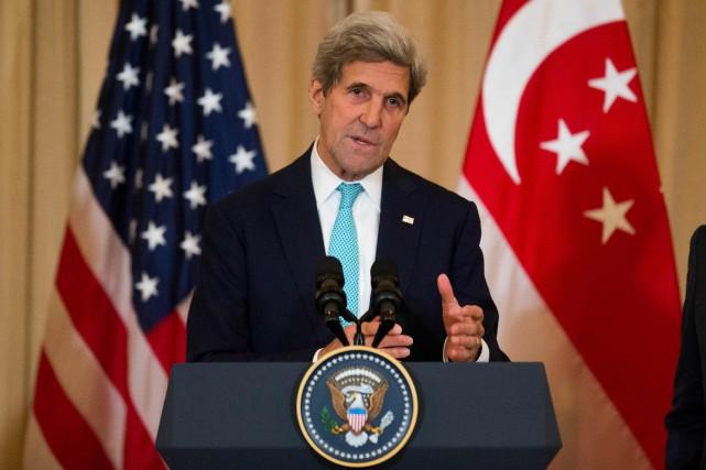 Le secrétaire d'État américain, John Kerry.... (Photo Zach Gibson, AFP)