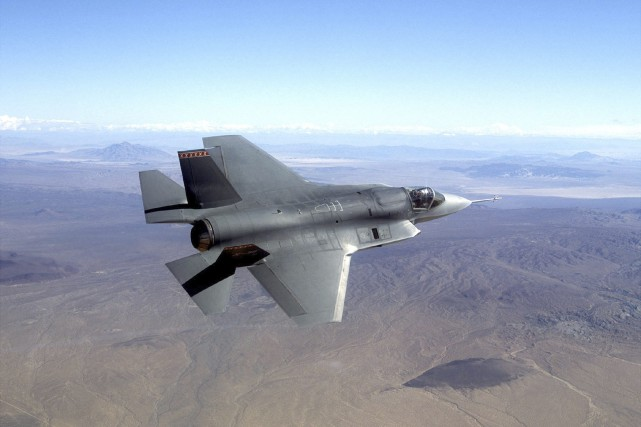 Un F-35.... (PHOTO ARCHIVES AP)