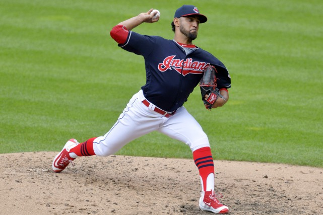 Danny Salazar... (photo David Richard, archives USA TODAY Sports)