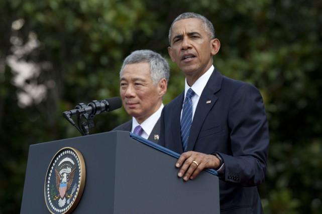 Barack Obama a émis ces propos lors d'une... (PHOTO AP)