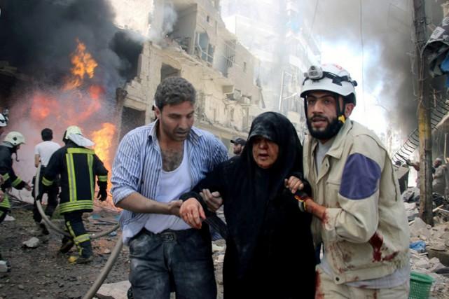 Alep est divisée depuis juillet 2012 entre quartiers... (PHOTO AP)