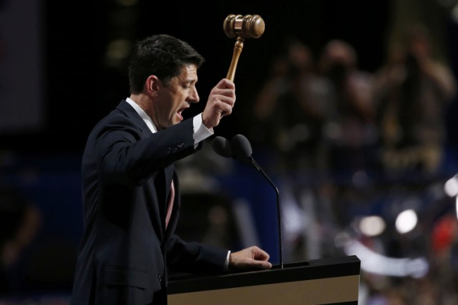 Paul Ryan s'est exprimé lors de la convention... (PHOTO REUTERS)