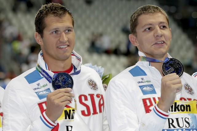Les nageursNikita Lobintsev etVladimir Morozov ont été autorisés... (PHOTO archives AP)