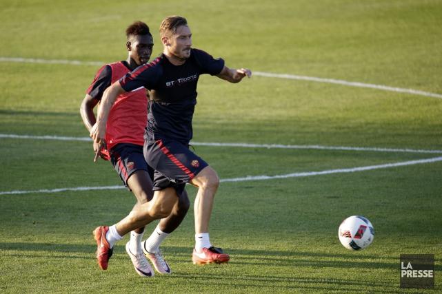 Le légendaire attaquant Francesco Totti lors de la... (Photo Olivier Jean, La Presse)