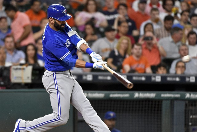 Jose Bautista a claqué le 300e circuit de sa... (Photo Eric Christian Smith, AP)