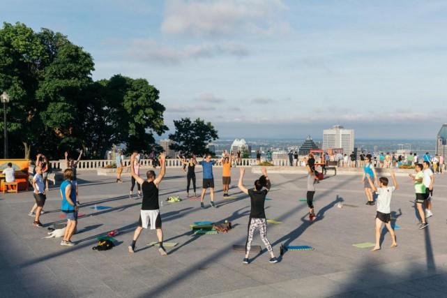 Entraînement gratuit de Group U Training, par un... (PHOTO ULYSSE LEMERISE, COLLABORATION SPÉCIALE)