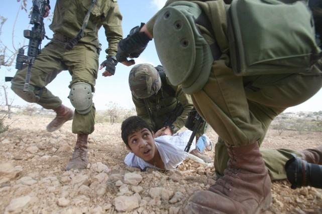 En Cisjordanie occupée, la loi militaire permet déjà... (photo HAZEM BADER, archives AFP)