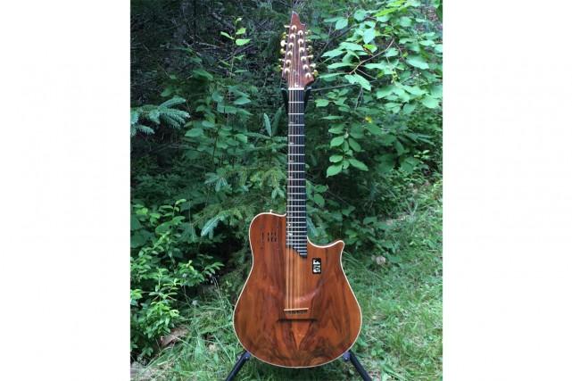 Cette guitare électroacoustique 12 cordes a été volée... (PHOTO FOURNIE PAR RICHARD SÉGUIN)