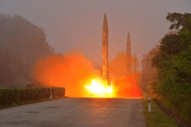 Pyongyang est sous le coup de plusieurs séries... (PHOTO AFP/AGENCE KCNA)