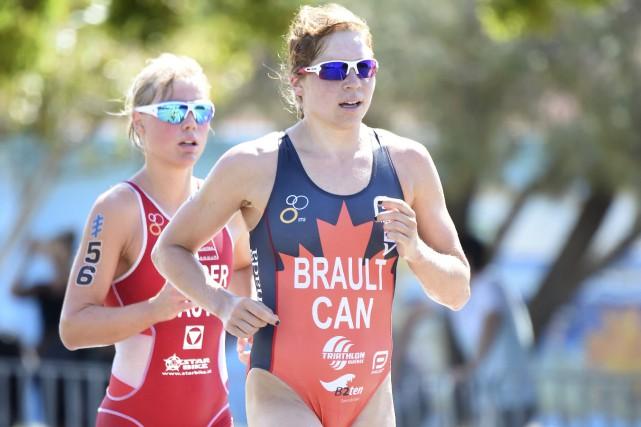 Sarah-Anne Brault a commencé la course à pied... (Delly Carr, Triathlon Canada)