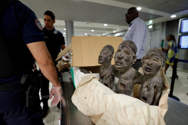 À l'aéroport de Roissy, les «trouvailles» des douaniers... (AFP, FRANCOIS GUILLOT)