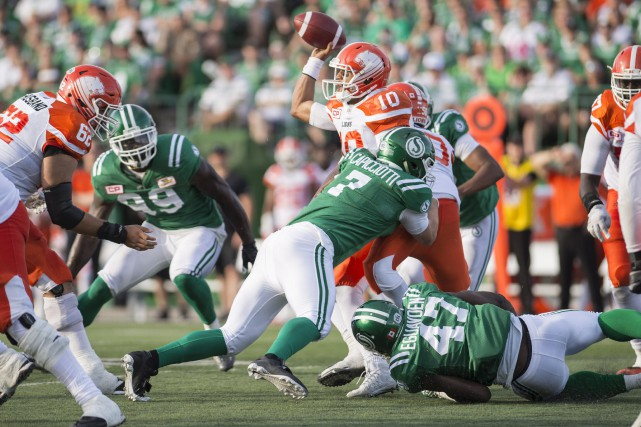 La Ligue a découvert que les Roughriders n'ont... (PHOTO Rick Elvin, La Presse Canadienne)