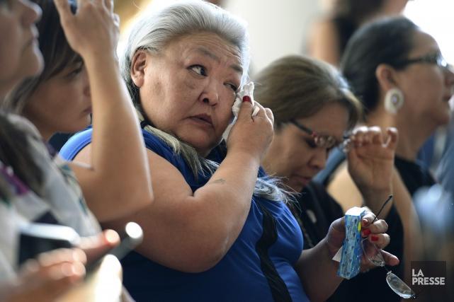 Les femmes autochtones présentes au Musée canadien de... (La Presse Canadienne, Justin Tang)