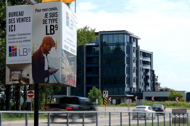 Dans ses publicités concernant le projet Condos LB9,... (Le Soleil, Erick Labbé)