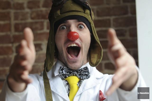Le clown humanitaire, Guillaume Vermette.... (Sylvain Mayer, Le Nouvelliste)
