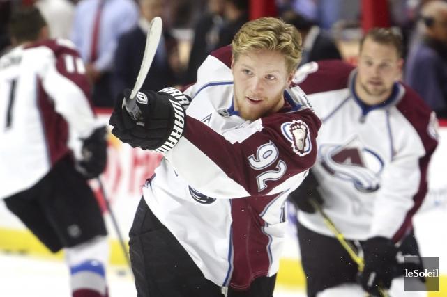 Gabriel Landeskog veut que les hockeyeurs plus jeunes... (Photothèque Le Soleil)