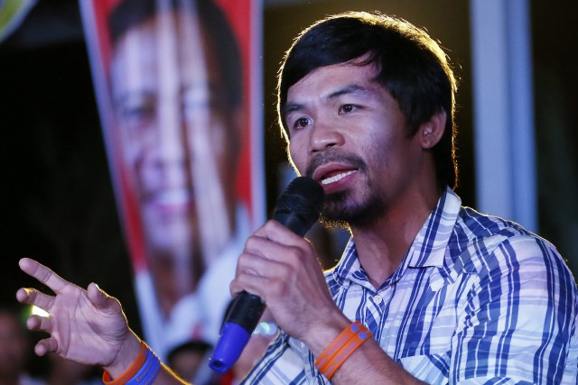 Manny Pacquiao... (Photo Bullit Marquez, archives AP)