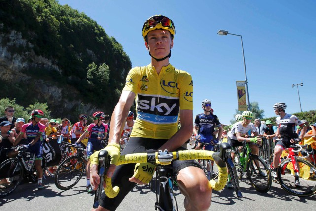 Chris Froome... (Photo Jean-Paul Pelissier, REUTERS)