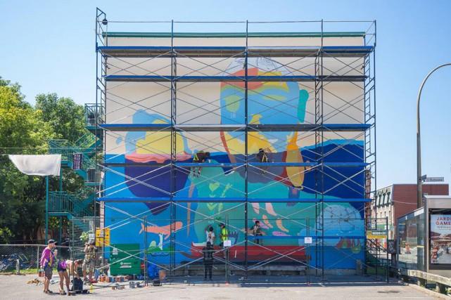 Murale de MU intitulée Qanuqtuurniq (ingénieux et innovant).... (Photo Olivier Bousquet, fournie par MU)
