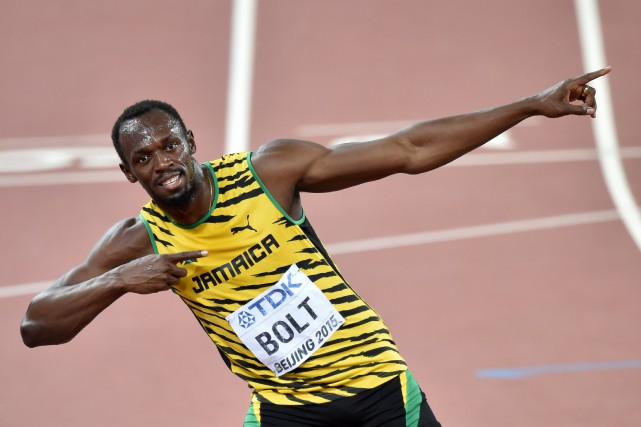 Usain Bolt... (Photo Pedro Ugarte, AFP)