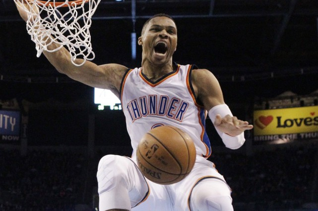 Russell Westbrook... (Photo Sue Ogrocki, AP)
