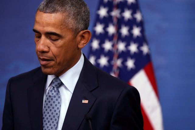 Le président américain, Barack Obama... (Photo Jonathan Ernst, REUTERS)