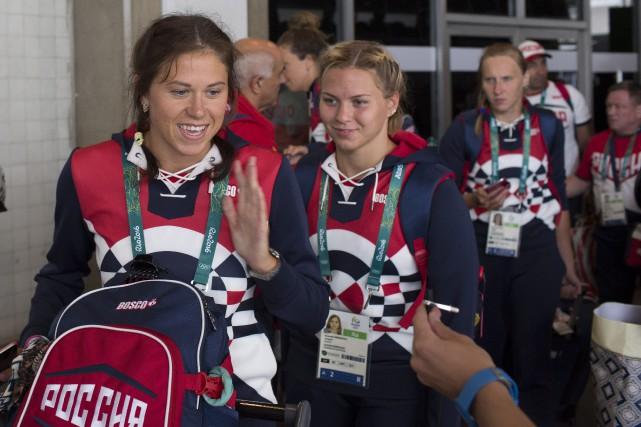 L'équipe de Russie était composée de 389 sportifs.... (Photo Leo Correa, AP)