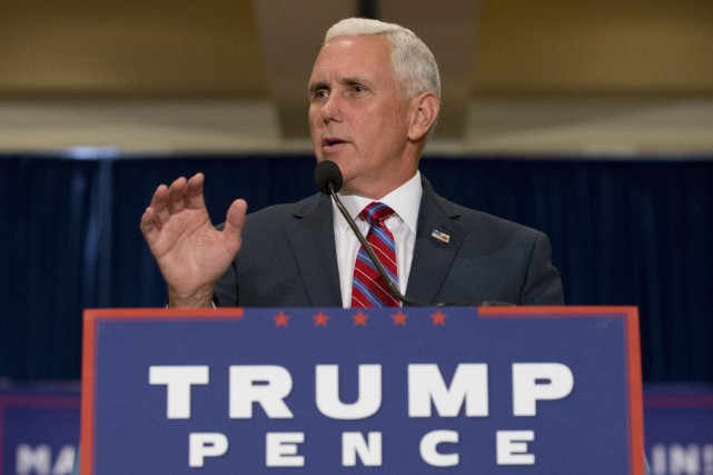 Republican Vice Presidential candidate, Indiana Gov. Mike Pence... (AP)