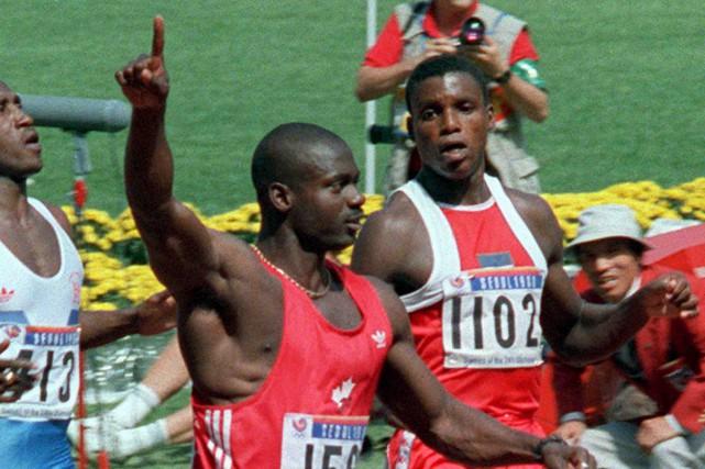 Roi du 100 m aux Jeux de Séoul... (Archives AP)