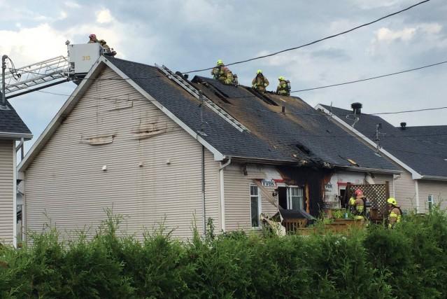 Les pompiers de Québec ont dû intervenir vers... (Service de protection contre l'incendie de la Ville de Québec)