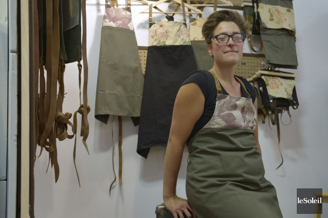 L'artisan Chantal Poirier... (Le Soleil, Yan Doublet)